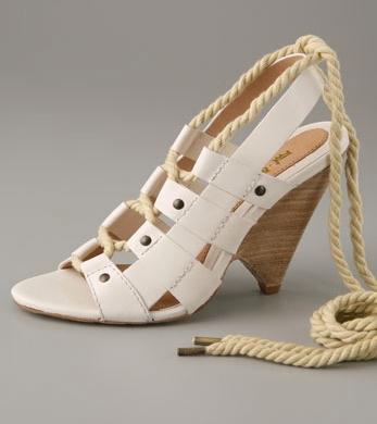 L.A.M.B Lace Up Sandals