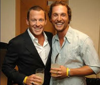 Lance Armstrong and Matthew McConaughey enjoy a couple drinks