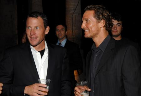 Lance Armstrong and Matthew McConaughey go out