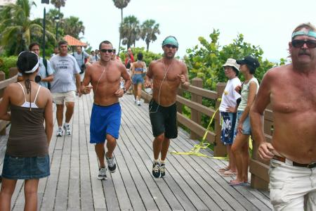 Lance Armstrong and Matthew McConaughey in Miami