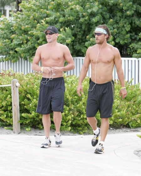 Lance Armstrong and Matthew McConaughey shirtless