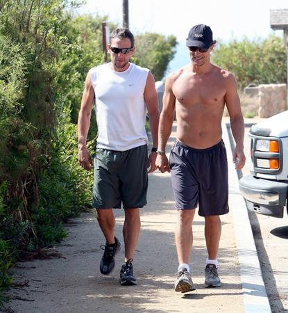 Lance Armstrong and Matthew McConaughey take a walk