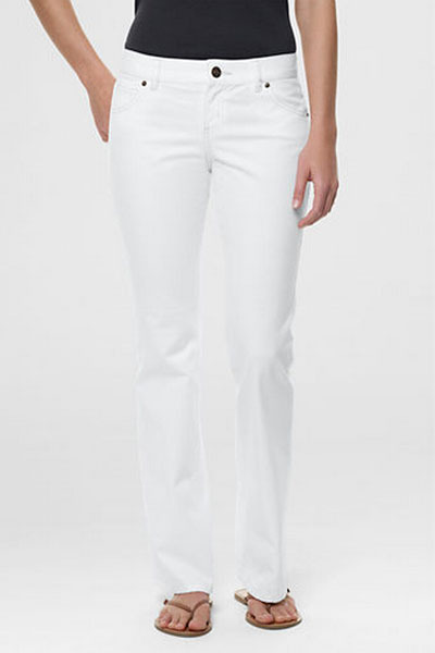 White bootcut jeans