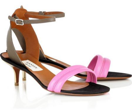 Lanvin Kitten Heel Sandals