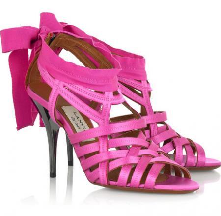 Lanvin Satin Bow Sandals