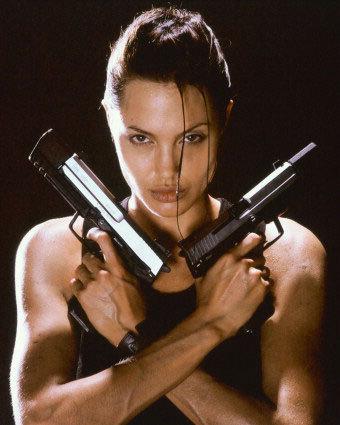 Angelina Jolie as Lara Croft in Tomb Raider