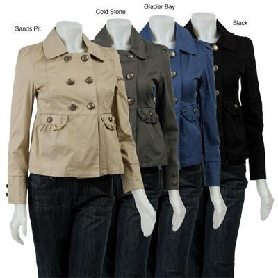 Last Kiss Women's Long Sleeve Double Breasted Jacket