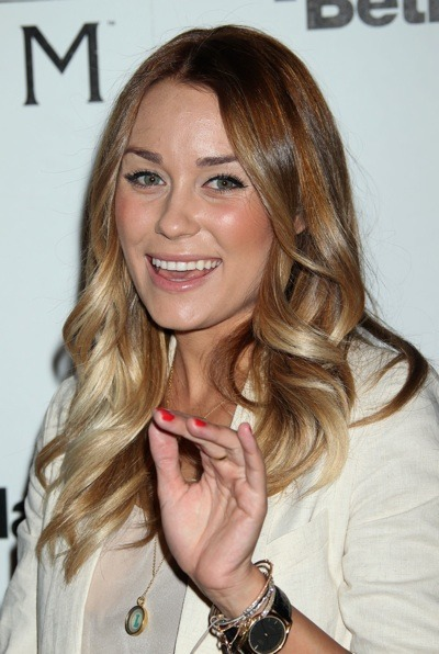 Lauren Conrad with beach curls