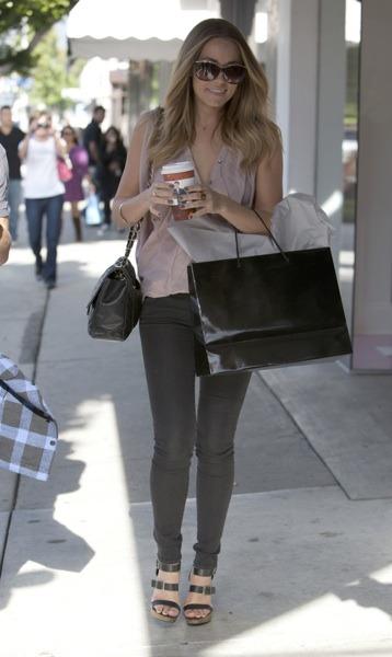Lauren Conrad with oversized sunglasses