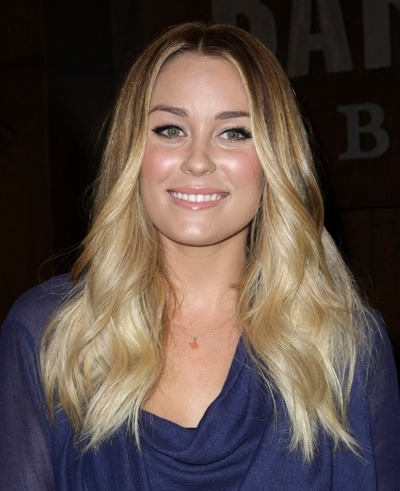 Lauren Conrad with blonde highlights
