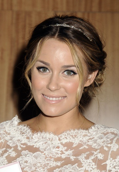 Lauren Conrad with diamond headband