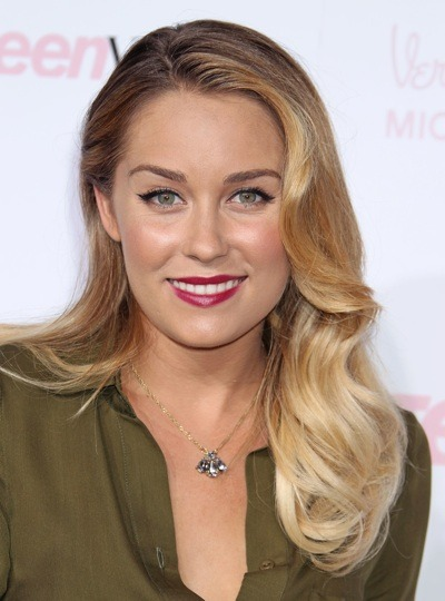 Lauren Conrad with large curls
