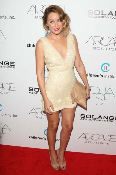 Lauren Conrad in sequined mini dress