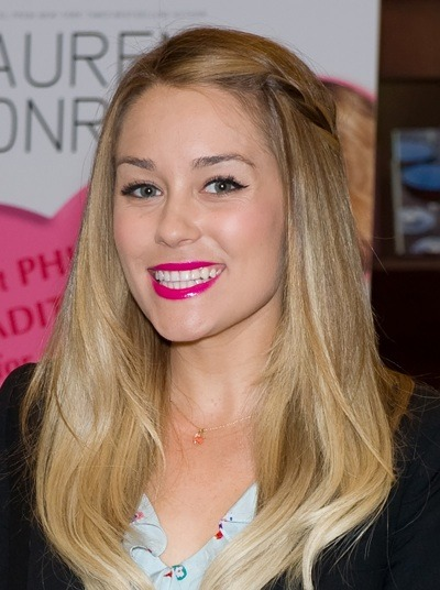 Lauren Conrad with pink lipstick