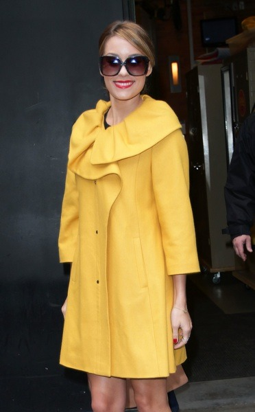 Lauren Conrad in yellow coat