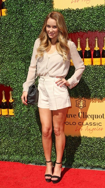 Lauren Conrad in off-white shorts