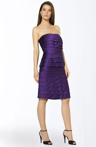 Lauren by Ralph Lauren Tiered Strapless Dress