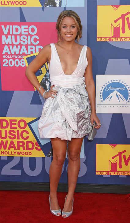 Lauren Conrad poses at the 2008 MTV Video Music Awards