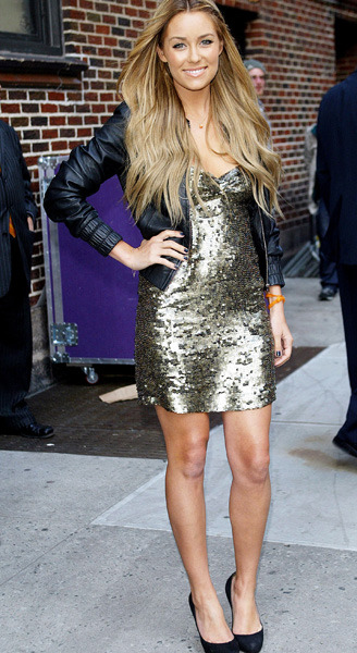 Lauren Conrad outside Ed Sullivan Theater