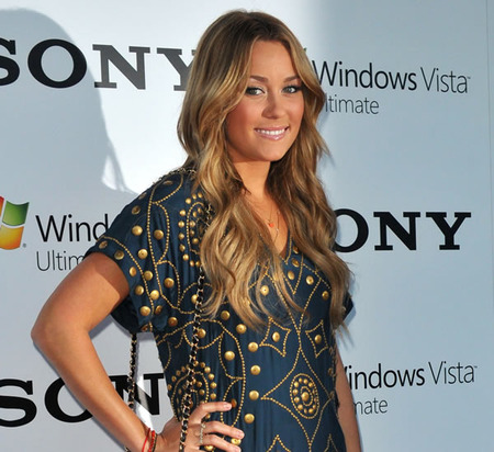 Lauren Conrad has perfect waves and a perfect outfit.