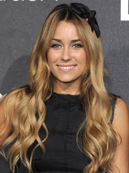 Lauren Conrad's hair looks long and pretty- a usual occurrence for her.