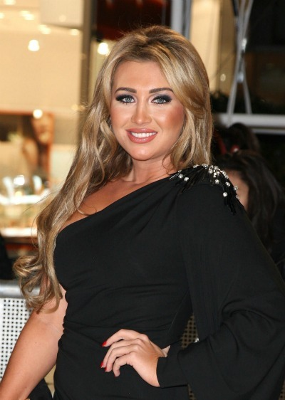 Lauren Goodger's beauty queen lengthy look