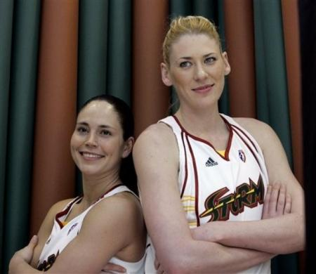 Lauren Jackson and Sue Bird