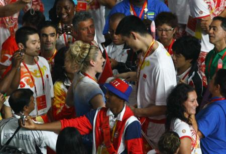 Lauren Jackson and Yao Ming
