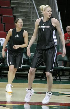 Lauren Jackson at Training Camp