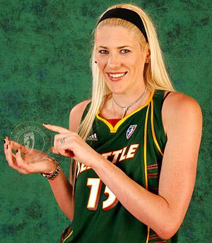 Lauren Jackson with her First-Team Award
