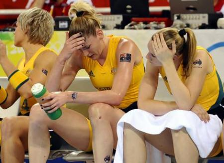 Lauren Jackson Sits on the Bench