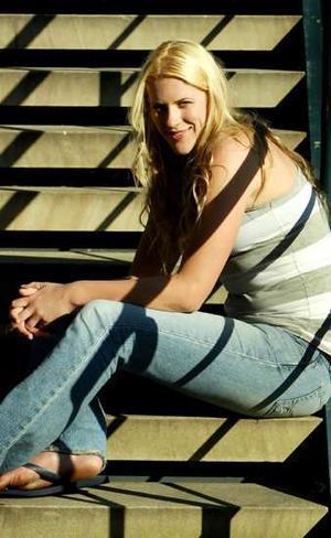 Lauren Jackson Sitting on Stairs