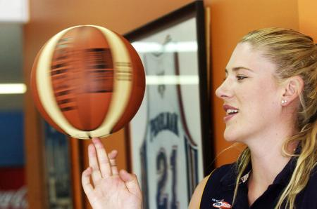 Lauren Jackson Spinning a Basketball