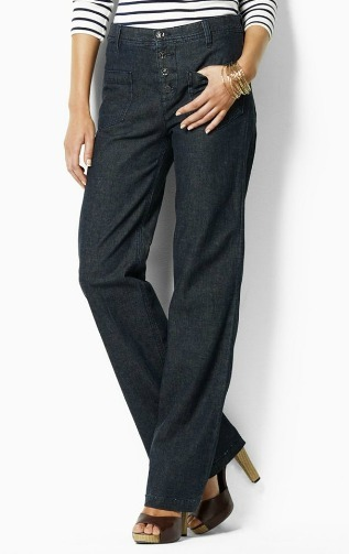 Wide-leg denim bottoms