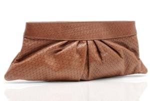 Lauren Merkin Woven Classic Pleated Clutch