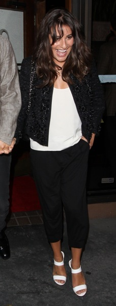Lea Michele in capris
