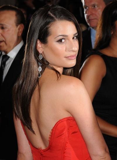 Lea Michele in red