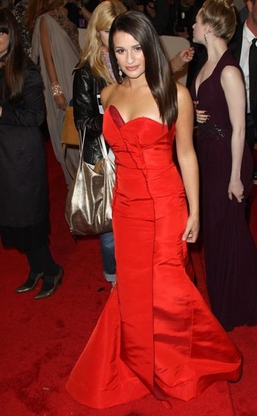 Lea Michele with a flared hemline