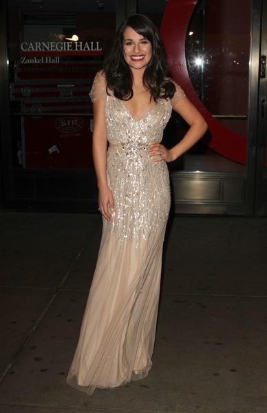 Lea Michele in shorts