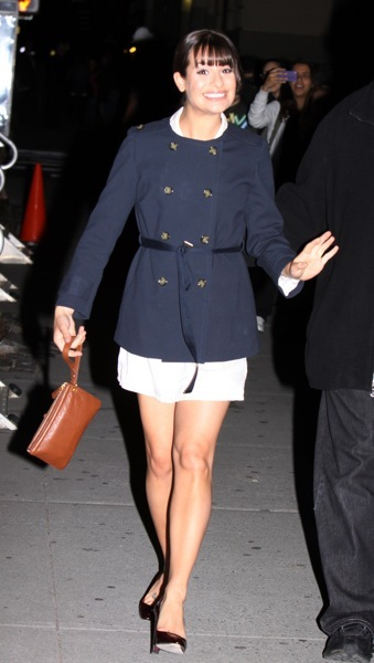 Lea Michele's nautical style