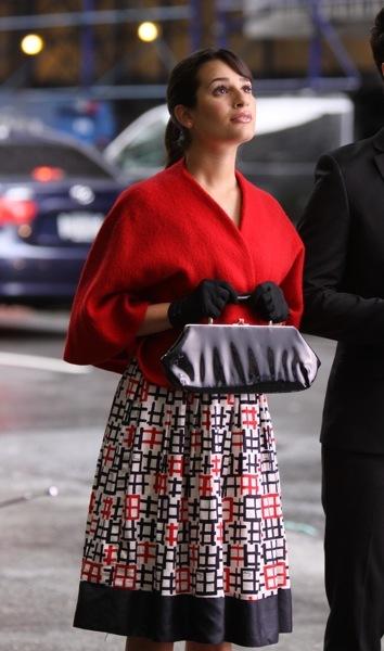 Lea Michele in a cap