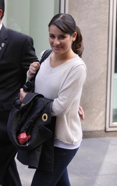 Lea Michele's layered look