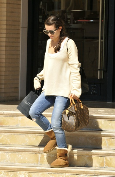 Lea Michele in UGGs