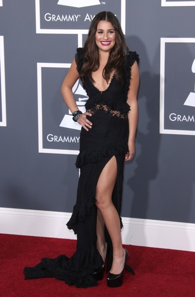 Lea Michele in lace and ruffle