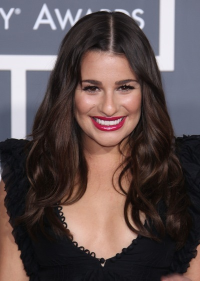 Lea Michele with soft waves
