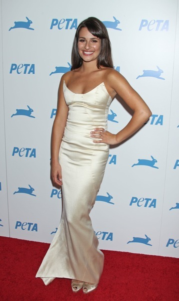 Lea Michele in a gown