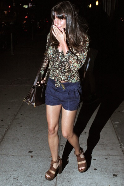 Lea Michele in a floral top