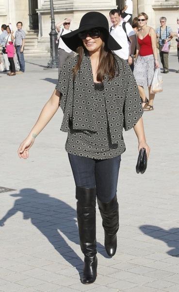 Lea Michele in a floppy hat