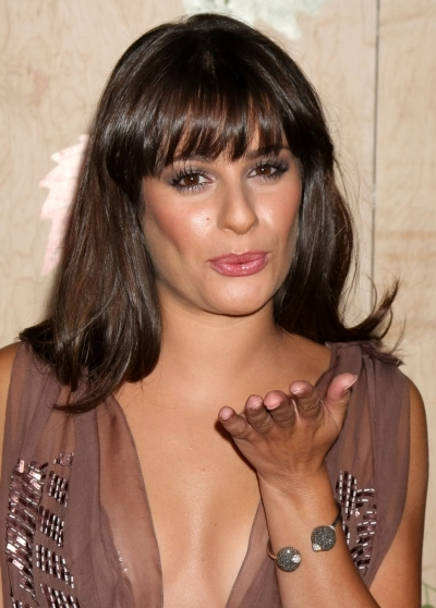 Lea Michele's bouncy layers