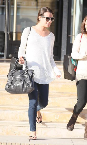 Lea Michele leaves Barney's New York in LA